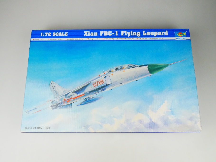 Trumpeter 1/72 Xian FBC-1 Flying Leopard No 01608 plane kit OVP 109707