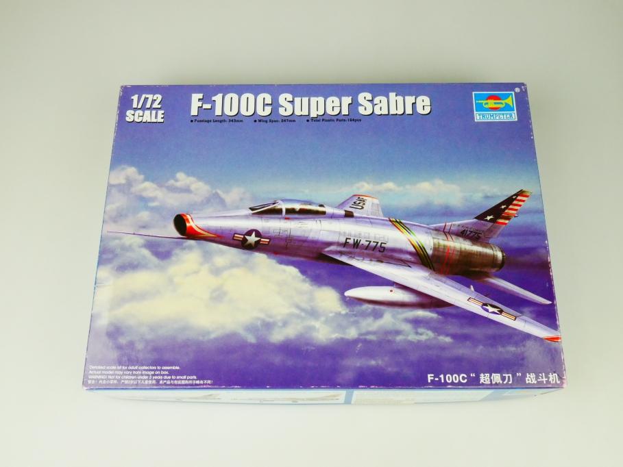Trumpeter 1/72 F-100C Super Sabre No. 01648 plane kit OVP 109747