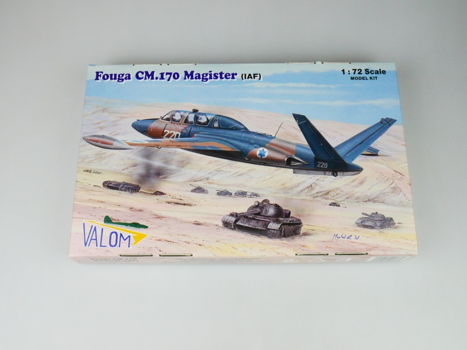 Valom 1/72 Fouga CM.170 Magister (IAF) No. 72088 plane kit OVP 109749