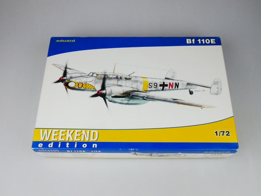 Eduard 1/72 Bf 110E No. 7419 plane kit OVP 109750