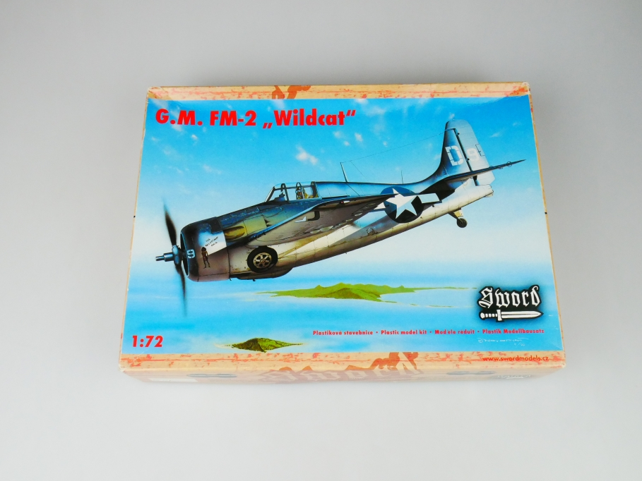 "Sword 1/72 G.M. FM-2 ""Wildcat"" No. SW72020 plane kit OVP 109753"