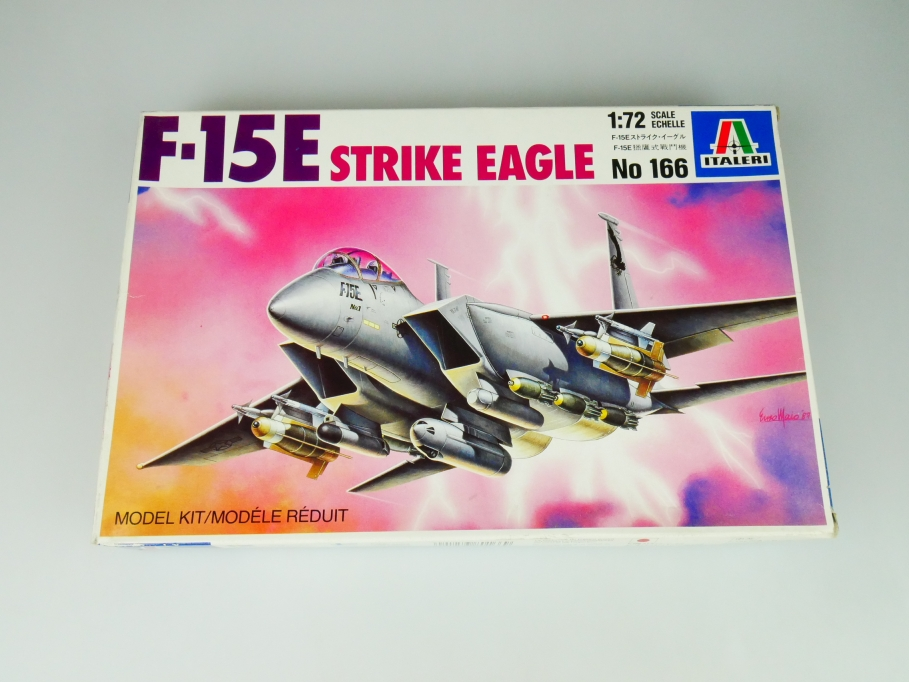 Italeri 1/72 F-15E Strike Eagle No. 166 plane kit OVP 109771