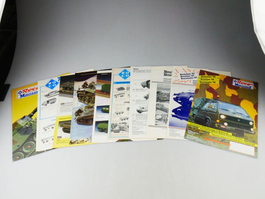 10 Roco Minitanks 1/87 News Programm 1979 80 82 84 85 87-90 93 98 Katalog 109789
