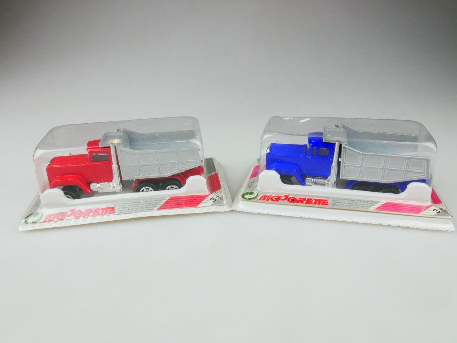 2x Majorette 297 dump truck metal model Box 109803