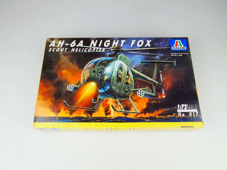 Italeri 1/72 AH-6A Night Fox Scout Helicopter No. 017 model kit OVP 109787