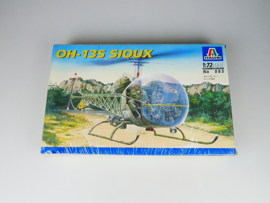 Italeri 1/72 OH-13S Sioux No. 085 helicopter model kit OVP 109821