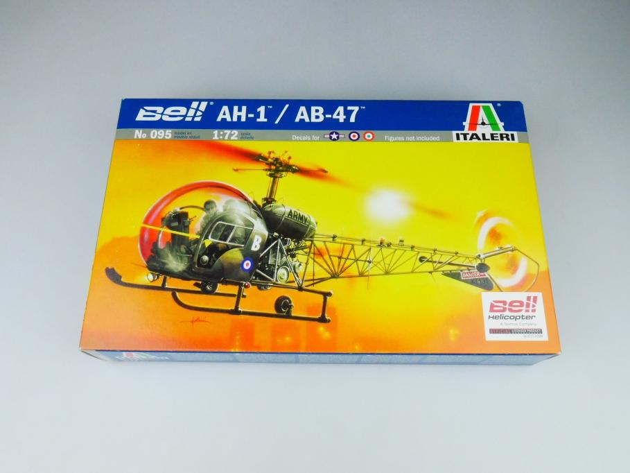 Italeri 1/72 AH-1 / AB-47 Bell Helicopter No. 095 model kit OVP 109822