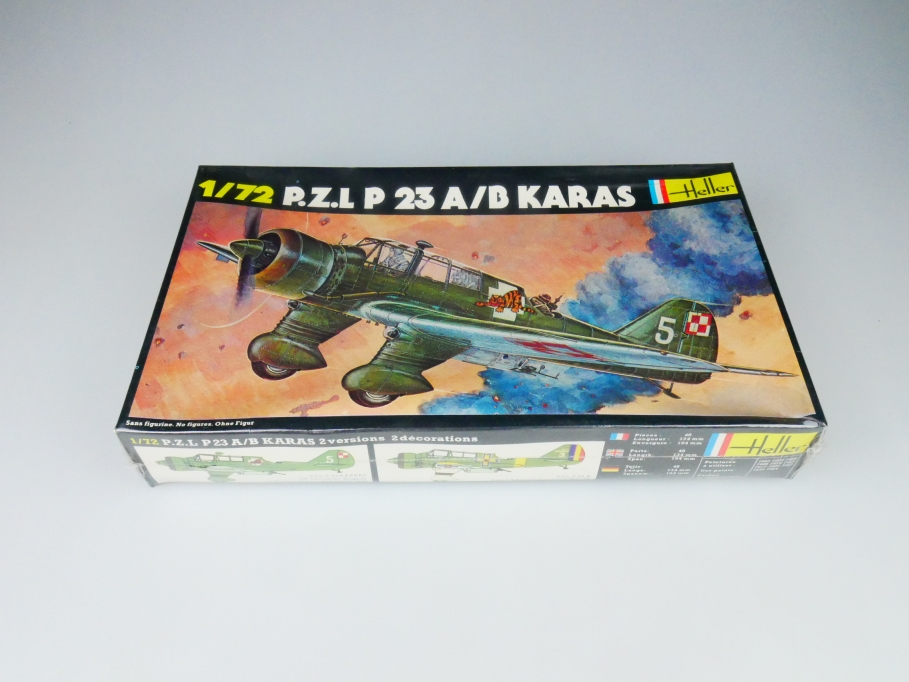 Heller 1/72 P.Z.L P 23 A/B Karas No. 247 plane model kit OVP 109837