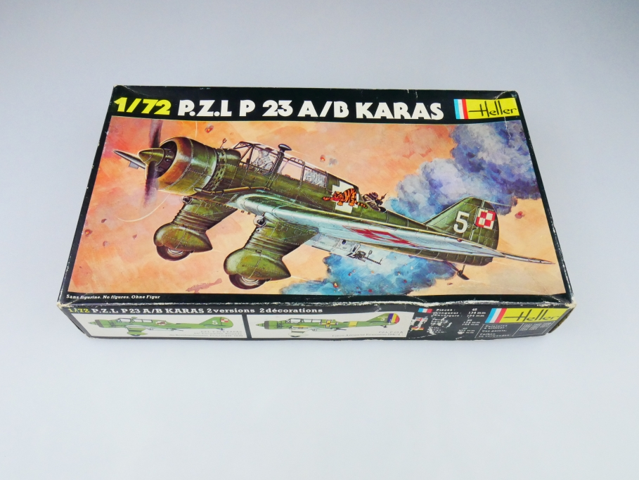 Heller 1/72 P.Z.L P 23 A/B Karas No. 247 plane model kit OVP 109838