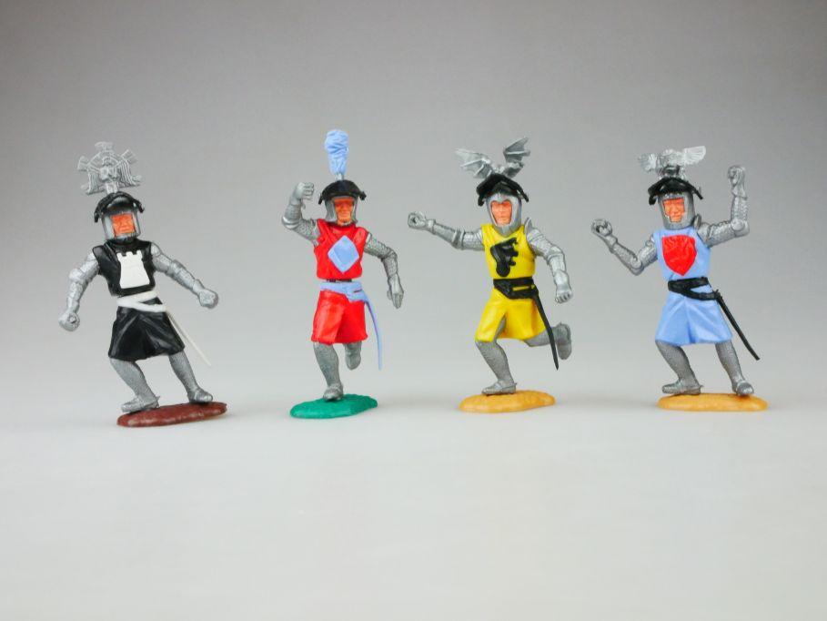 Timpo 4 Visier Helm Ritter gelb schwarz rot hellblau knight 109916