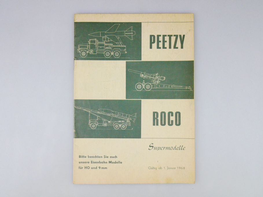 Peetzy Roco H0 9mm 1968 Katalog 20 S catalog Panzer 101 bis 236 Minitanks 109974