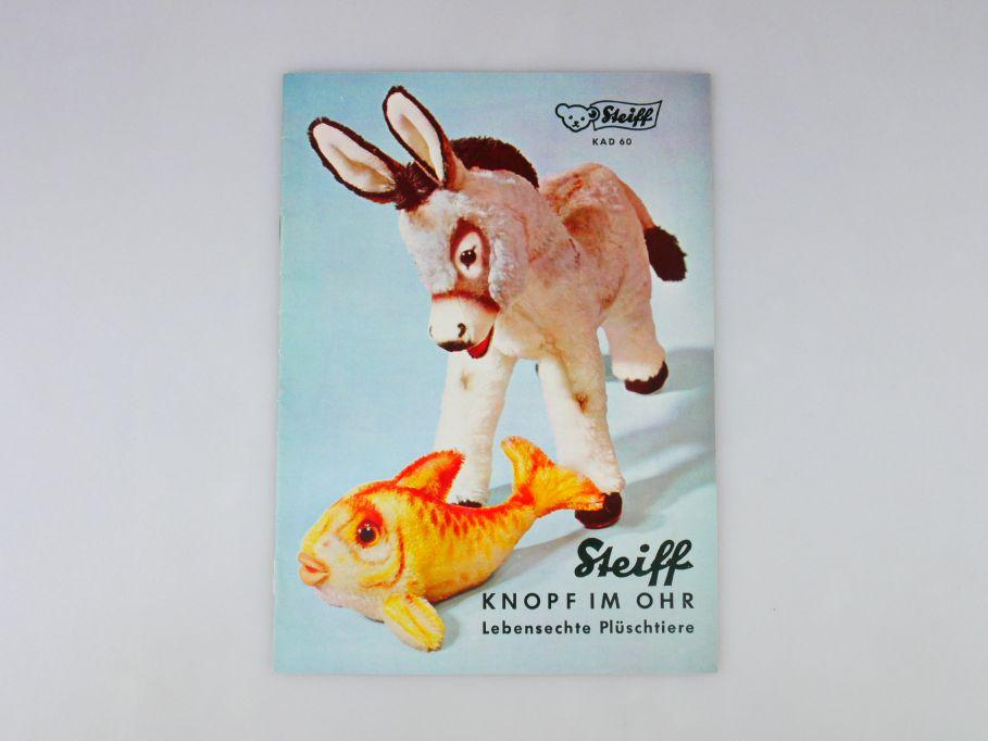 Steiff 1960 Katalog Knopf im Ohr Plüschtiere 16 S. KAD 60 toy catalog 109982