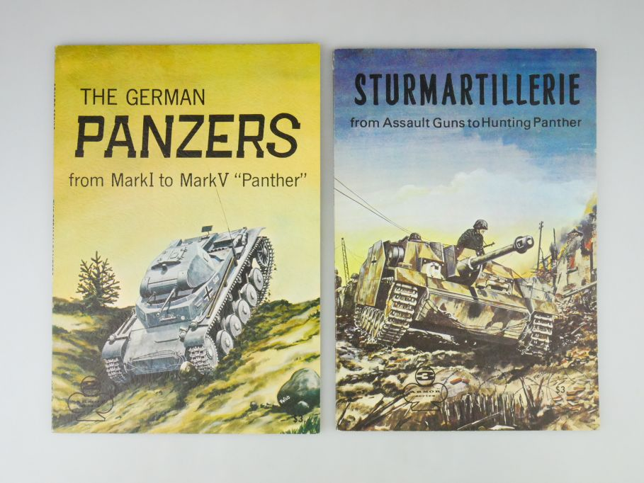 2x Armor Series Panzer Katalog 1966 1967 Bildband Heft german catalog 109985