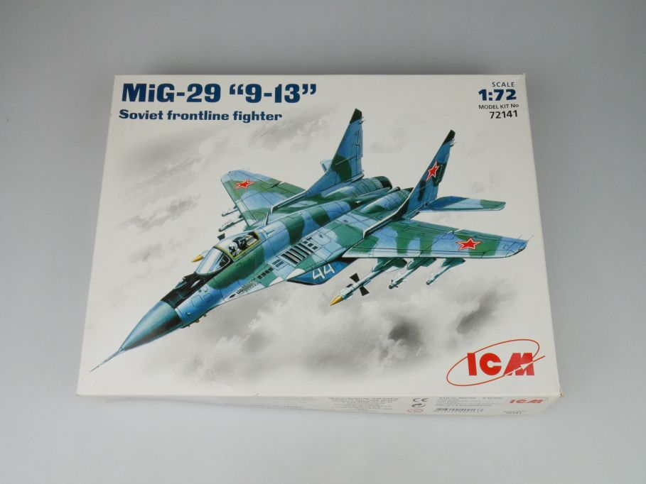 "ICM 1/72 MiG-29 ""9-13"" Soviet frontline fighter No 72141 kit OVP 109990"
