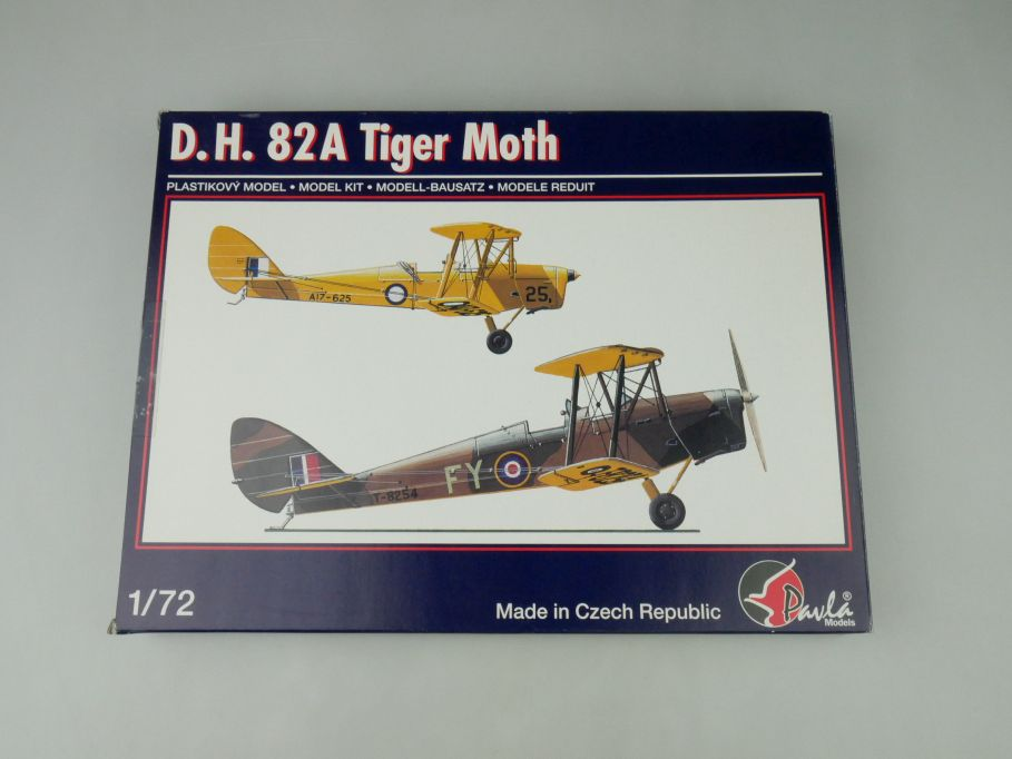 Pavla 1/72 D.H. 82A Tiger Moth No 72051 plane kit OVP 110003