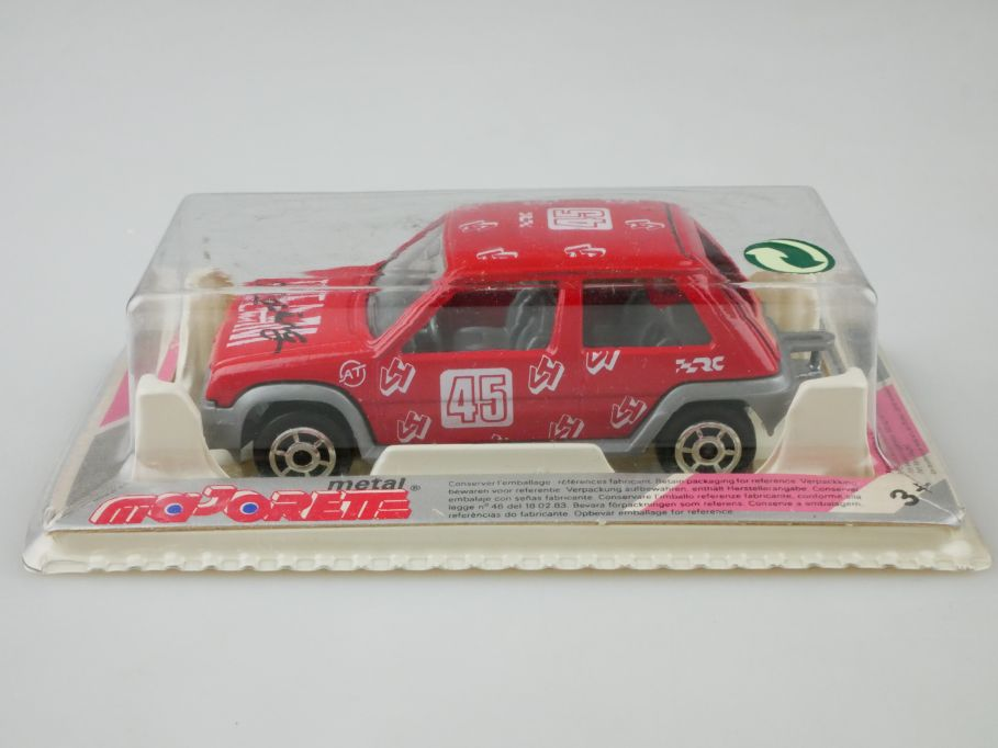 Majorette 205 1/51 Renault Super 5 Racing Team RT 45 rot mit Box 110043