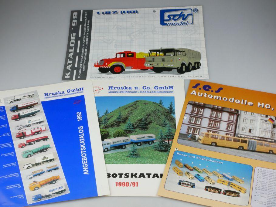 4x Faltblatt H0 TT SES Hruska 1992 sdv model 1999 Permot 1990/91 Katalog 110118