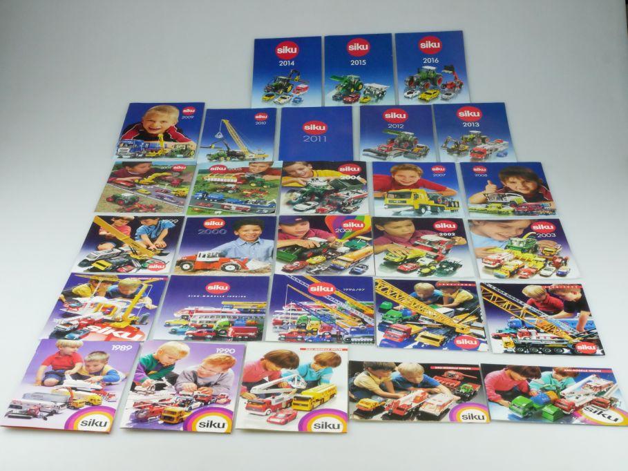 Siku Katalog 1989 bis 2016 28x Kataloge Hefte Sammlung Konvolut 110120
