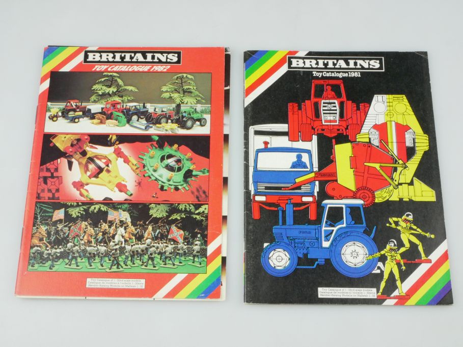 Britains toy Catalogue 1981 + 1982 Katalog catalog 24S. Konvolut 110123