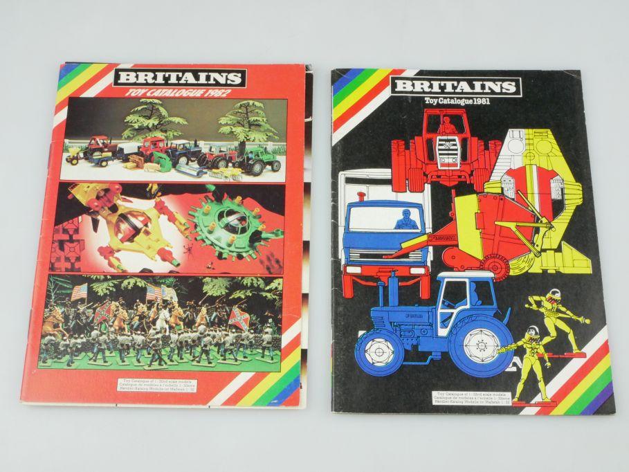Britains toy Catalogue 1981 + 1982 Katalog catalog 24S. Konvolut 110123