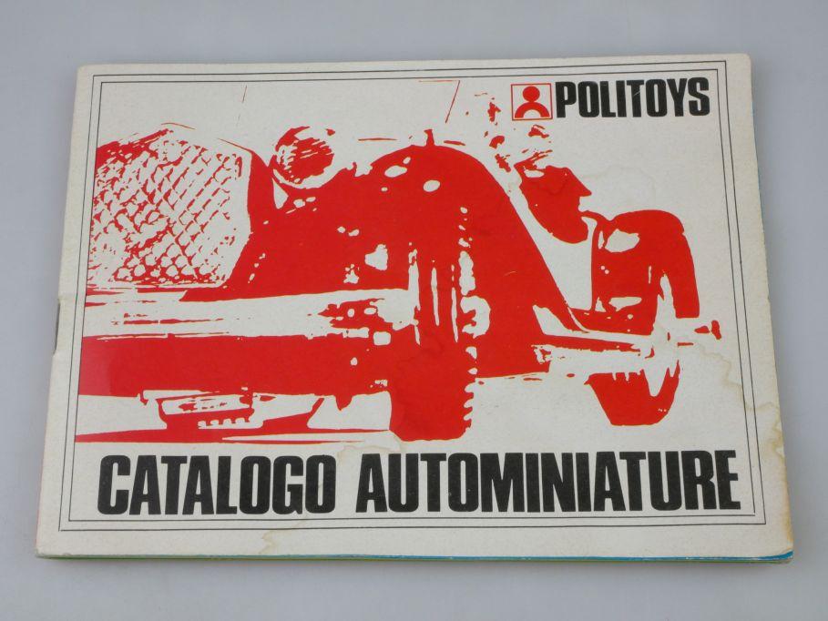Politoys 1970s Catalogo Autominiature Katalog 46S. 1/25 1/32 1/43 catalog 110124