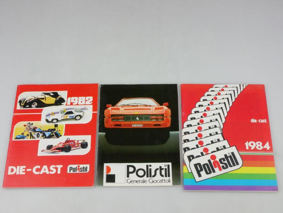 3x Polistil Katalog 1982 1984 Generale Giocattoli diecast toy catalog 110125