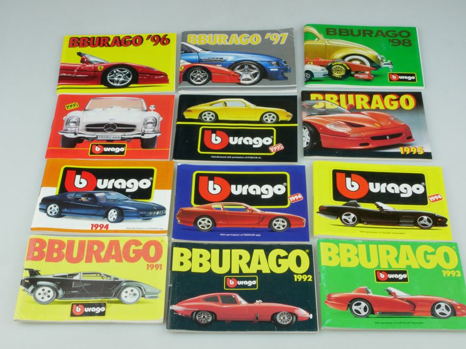 Bburago 12 Katalog pocket catalog 1991 1992 1993 1994 1995 1996 1997 1998 110127