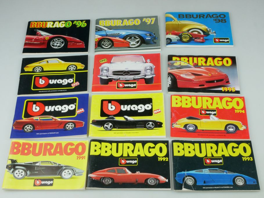 Bburago 12 Katalog pocket catalog 1991 1992 1993 1994 1995 1996 1997 1998 110128