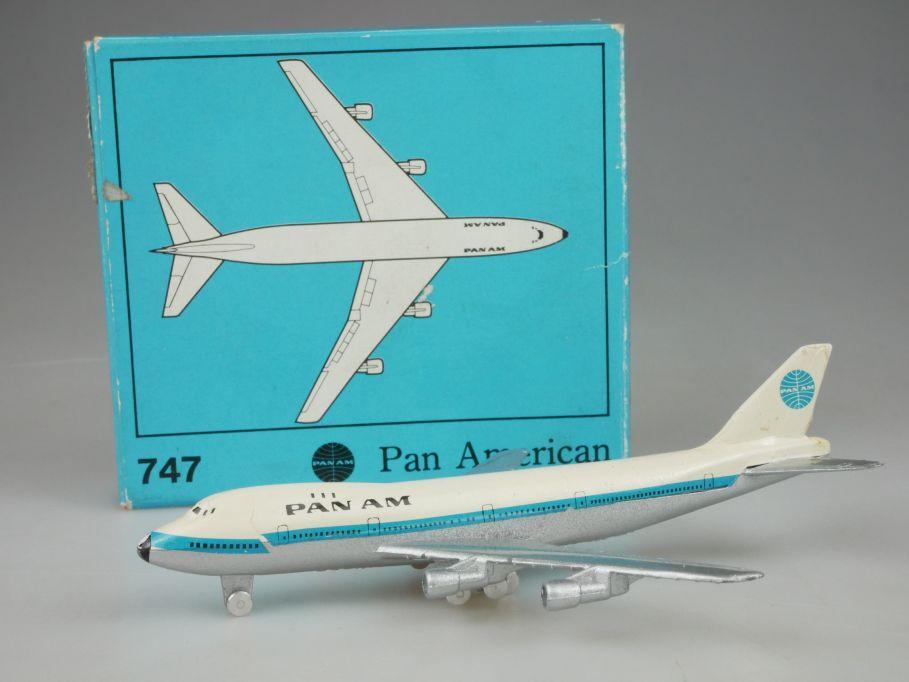 Schuco Boeing 747 Pan Am 117mm plane diecast Flugzeug 335793 Box 110110