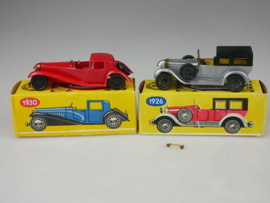 2x Estetyka 1926 Isotta Fraschini 1930 Bugatti stare samochody antyki Box 110113