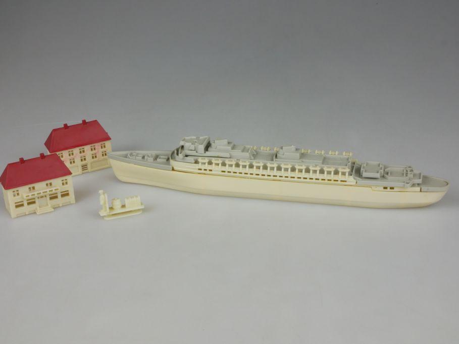 Siku Plastik 292 Selbstbau Schiff 1957 Montage Bausatz kit vintage toy 110173