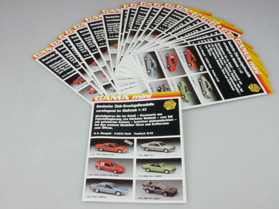 Gama Mini 25x 1988 Faltblatt leaflet mini catalog diecast 1:43 catalog 110129