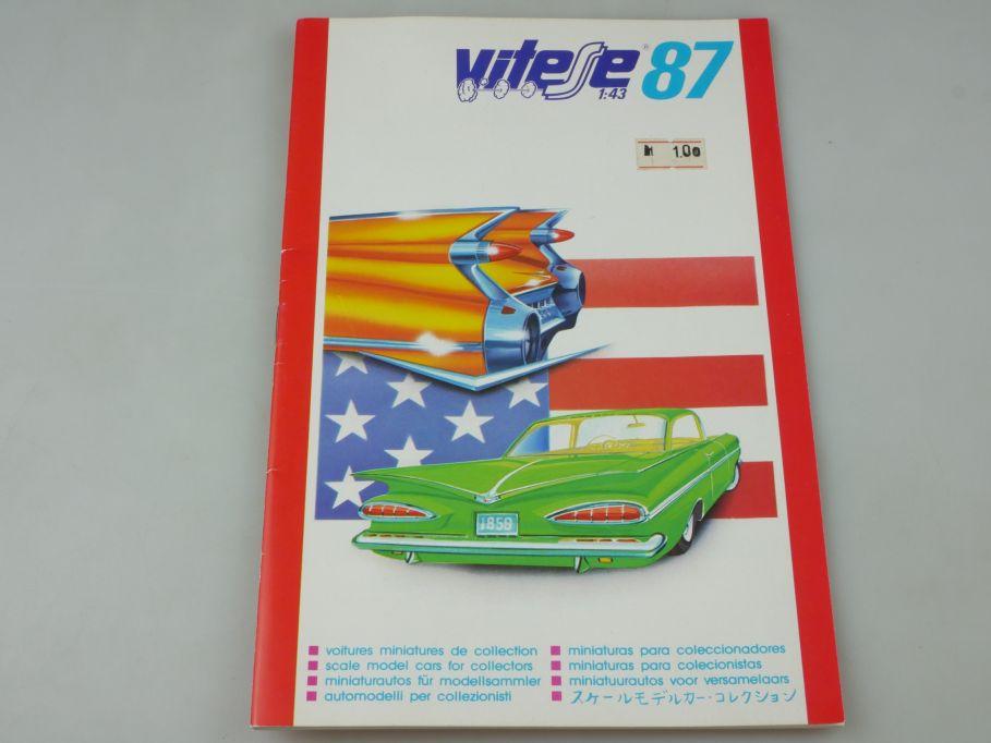 Vitesse 1987 1:43 voitures miniatures Katalog 24S. catalog catalogue 110130