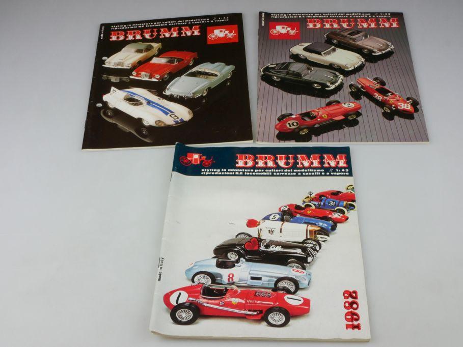 3x Brumm Katalog 1982 1985 1986 diecast 1/43 catalog 110131
