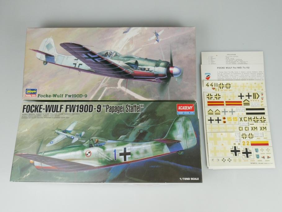 Academy Hasegawa 1/72 Konvolut Focke-Wulf Fw190D-9 OVP kit 110155