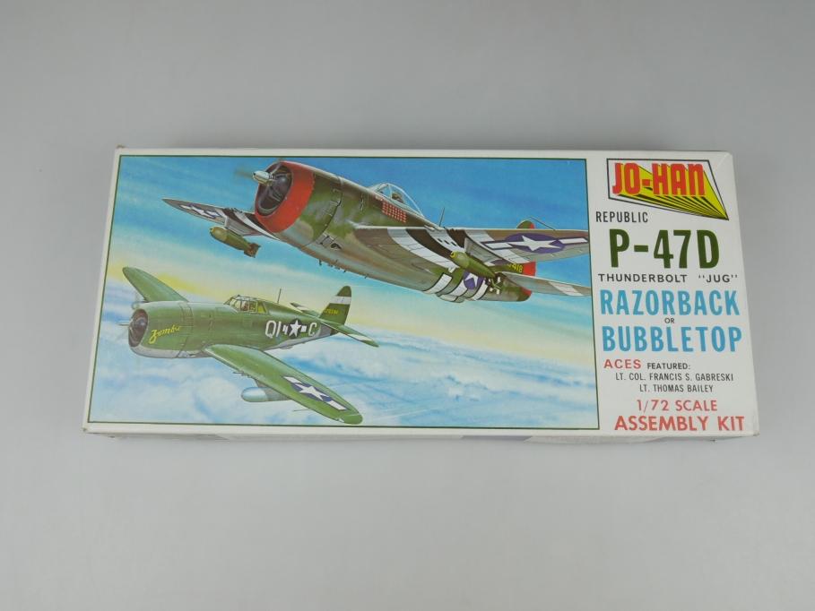 """Jo-Han 1/72 Republic P-47D Thunderbolt """"Jug"""" No A-102 : 100 OVP model kit 110208"""