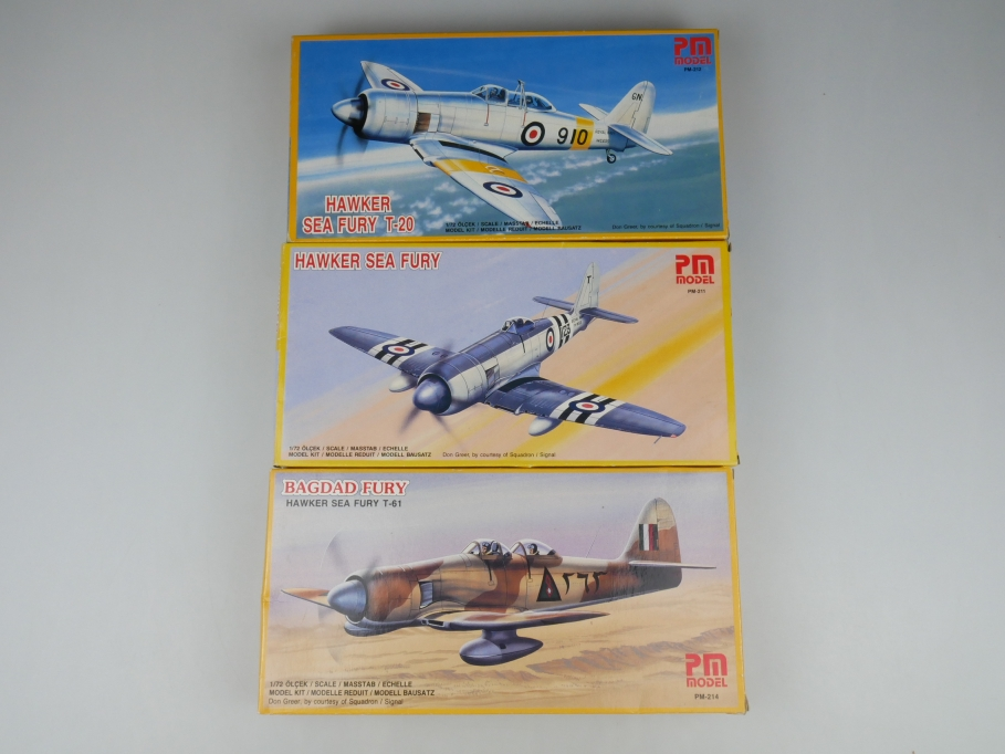 PM Models 1/72 Konvolut Hawker Sea Fury T-20 / Bagdad Fury OVP kit 110214