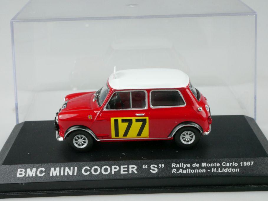 Altaya 1/43 BMC Mini Cooper S Rallye Monte Carlo 1967 177 Aaltonen Box 110182