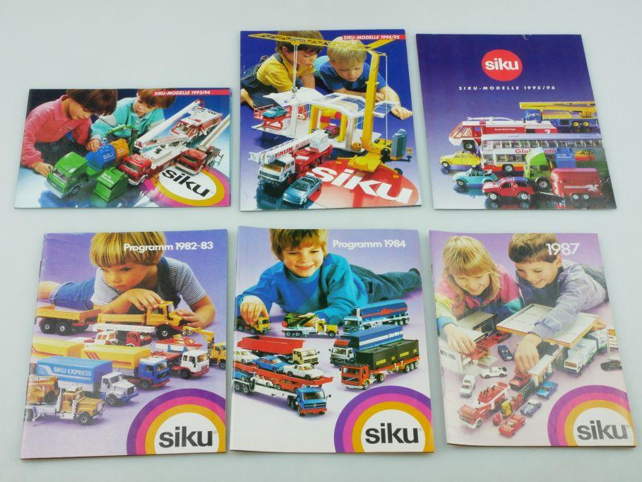 Siku 6x Katalog 1982-3 1984 1987 1993/4 1994/5 1995/6 diecast toy catalog 110204