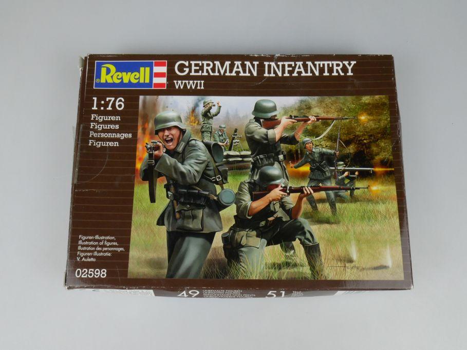 Revell 1/76 German Infantry WWII Soldaten Figuren kit 02598 Bausatz Box 110263