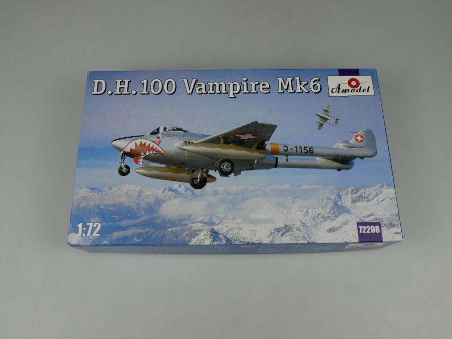 Amodel 1/72 D.H.100 Vampire Mk6 Düsenflugzeug kit Bausatz 72208 Box 110268