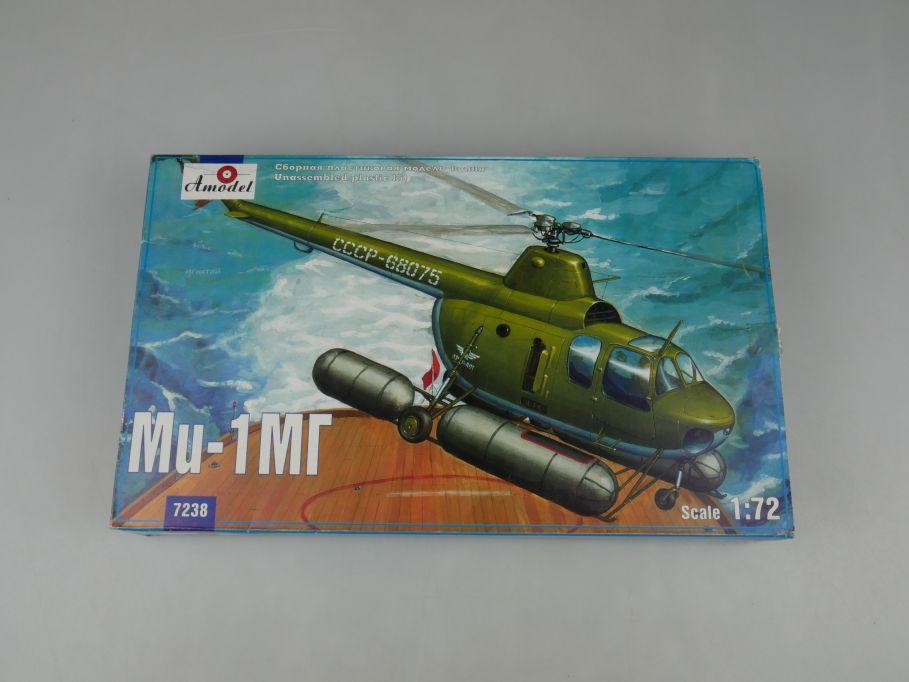 Amodel 1/72 MIL Mi-1MG Hubschrauber USSR soviet navy kit Bausatz 7238 Box 110269