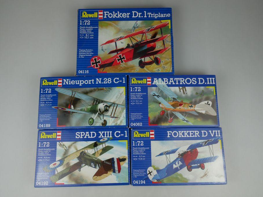 5x Revell 1/72 Albatros DIII Fokker D VII Dr.1 SPAD Nieuport prop kit Box 110302