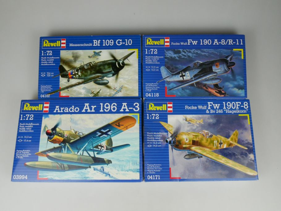 4x Revell 1/72 Messerschmitt BF 109 FW 190 A-8 F-8 Arrado Ar V kit Box 110307