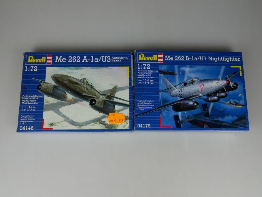 2x Revell 1/72 Messerschmitt Me 262 B-1a U1 Nightfighter 262 A-1a U3 kit 110314
