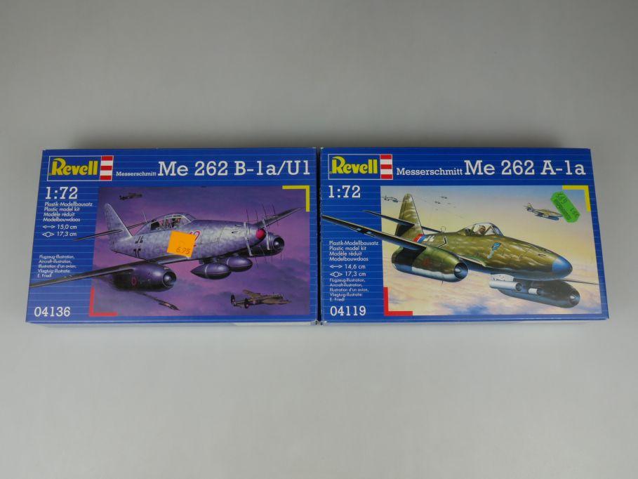 2x Revell 1/72 Messerschmitt Me 262 B-1a U1 262 A-1a kit Box 110315