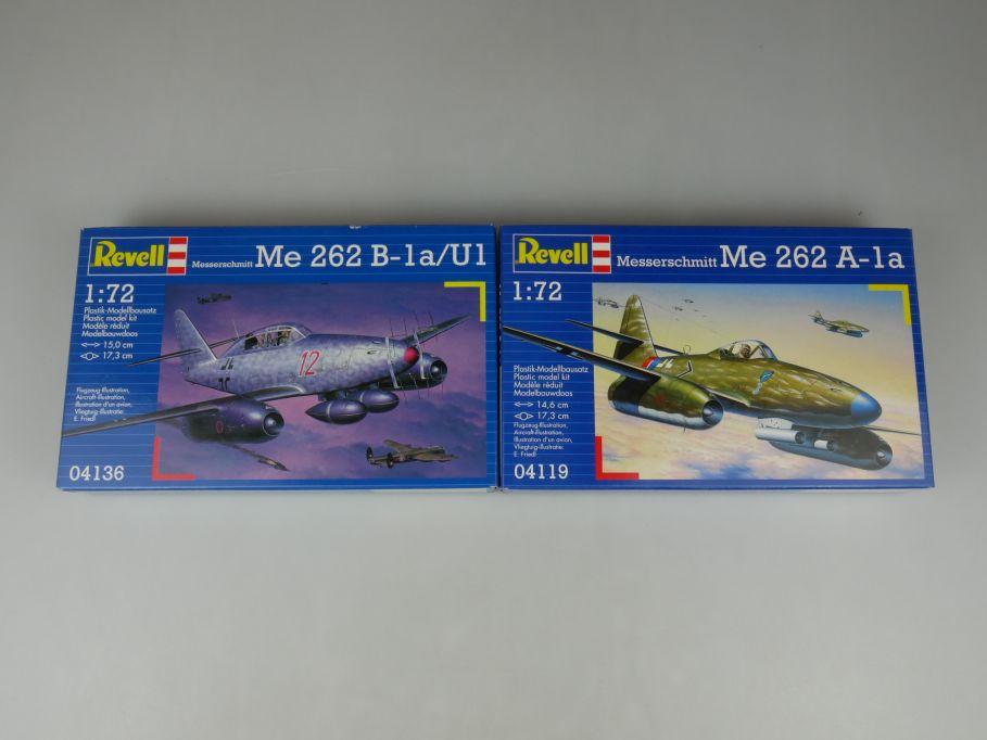 2x Revell 1/72 Messerschmitt Me 262 B-1a U1 262 A-1a kit Box 110316
