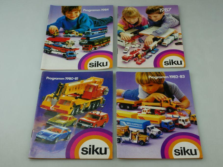 4x Siku Katalog 1980-81 1982-83 1984 1987 vinateg diecast toy catalog 110350