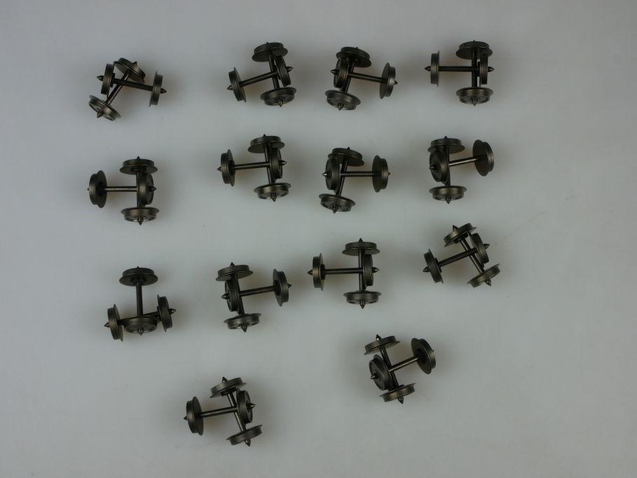 28x H0 DC Radsätze 10.5 + 24.5mm Gleichstrom Radsatz PTa 110372