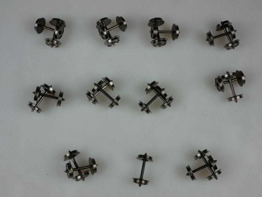 20x H0 DC Radsätze 10.5 + 24.75mm Gleichstrom Radsatz PTa 110374